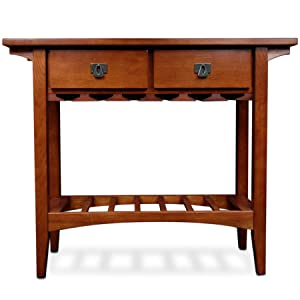 Superb 9061 Mission Wine Stand,Mission Style, Casual,Leick, Solid Wood,oak