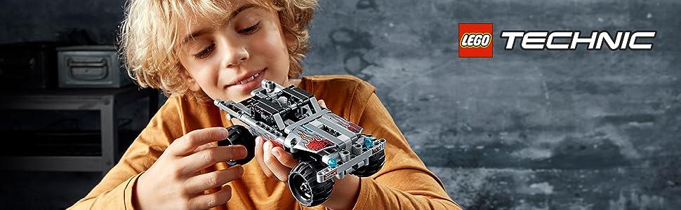 camión-monstruo-llantas-neumáticos-vehículo-coche-tirar-trasero-lego-technic-42090-réplica