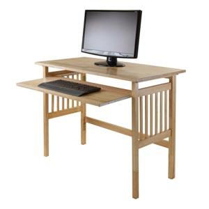Amazoncom Winsome Wood Foldable Desk Natural Kitchen Dining