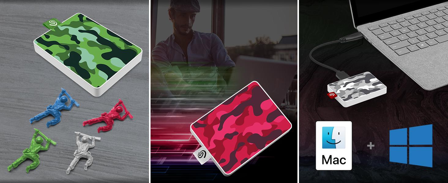 Seagate One Touch SSD SE Camo