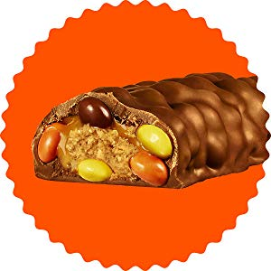 REESES OUTRAGEOUS! Peanut Butter Chocolate Candy Bar, 18 Count