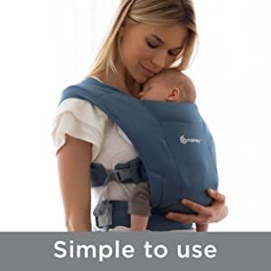 Ergobaby Embrace Cozy Newborn Baby Wrap Carrier Heather Grey 7-25 Pounds