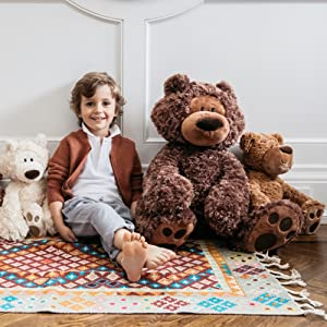 "GUND Philbin Teddy Bear Chocolate stuffed animal 13/""//33cm soft plush toy NEW"