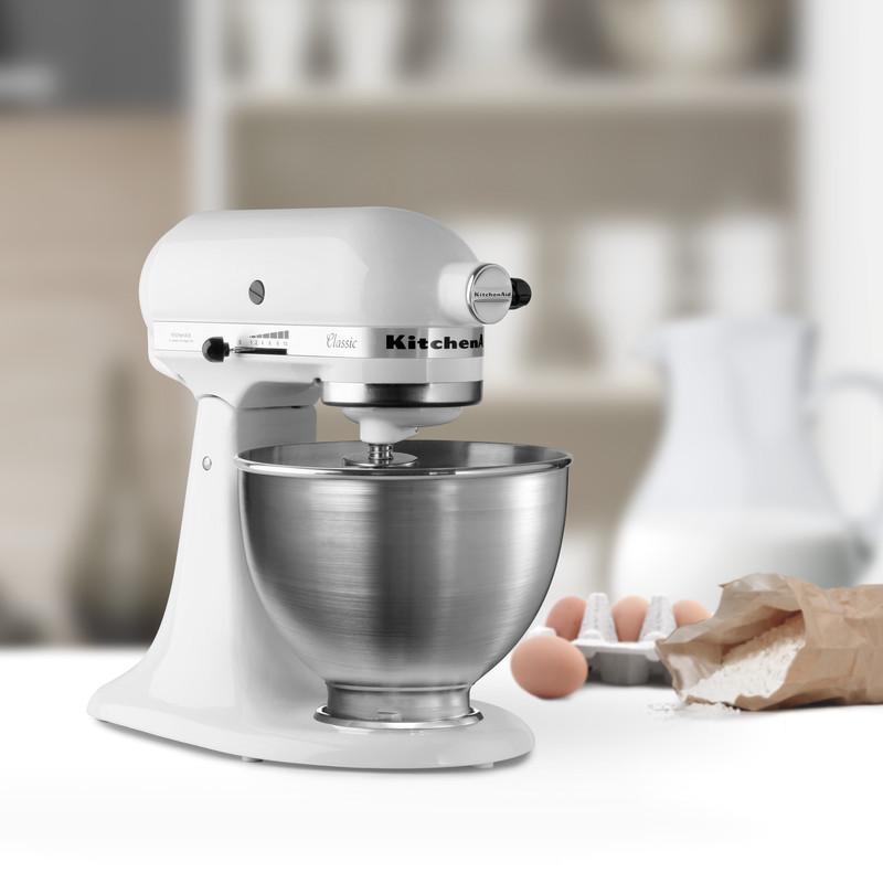 KitchenAid K45SS Classic Stand Mixer - White: Amazon.co.uk