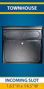 Townhouse Large Wall Mount Locking USPS approved Residential Mailbox for outside