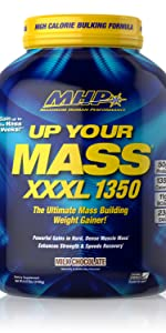 increase muscle mass build train weight gainer