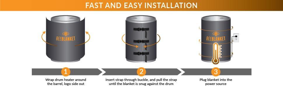 bucket heater, bucket heating blanket, 5 gallon bucket heater, pail heaters, honey heater, honey