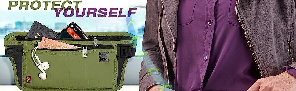 protect while traveling overseas moneybelt money belt undershirt under clothing hip pouch