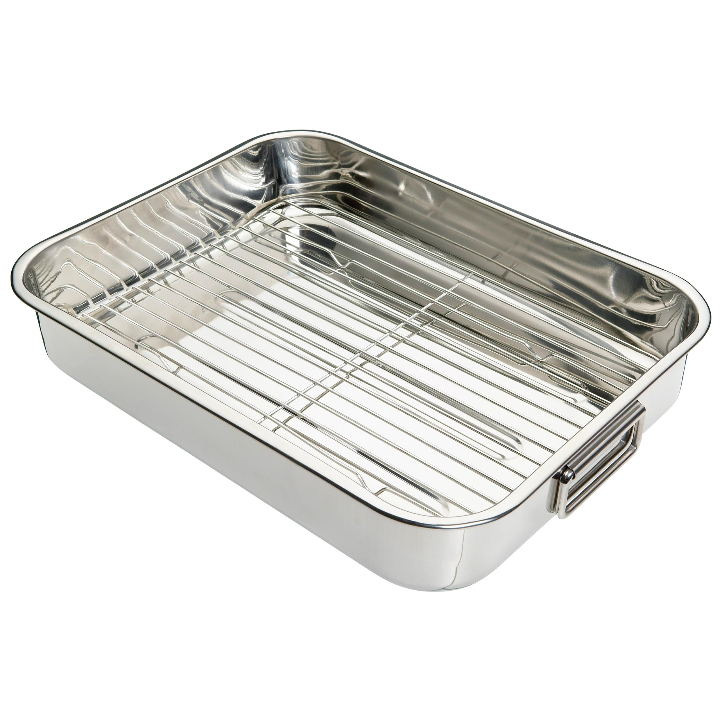 c roasting cookware qvc clad com n steel all food ply pan set rack piece contemporary calphalon stainless with tri kitchen