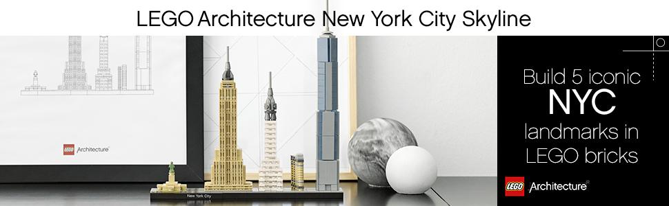 bf50d63bd Amazon.com: LEGO Architecture New York City 21028, Build It Yourself ...