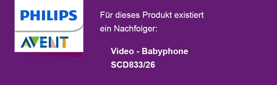 Philips Avent, Babyphone, Video-Babyphone, SCD620, SCD833,