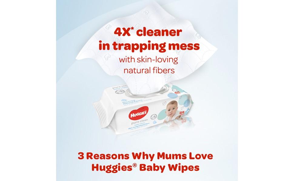Huggies Wipes Pure Clean