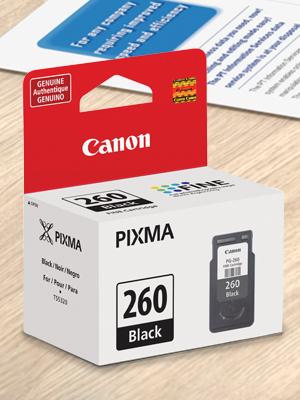Canon PG-260 Black Ink Cartridge for sharp black text