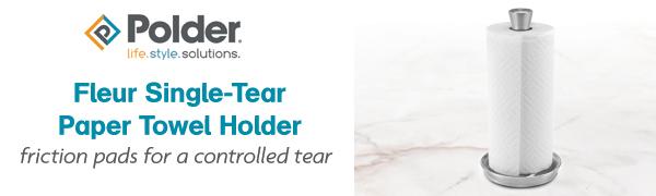 Fleur Single-Tear Paper Towel Holder header
