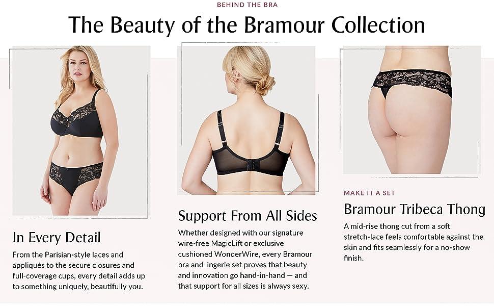 tribeca bramour luxury lingerie panty set wonderwire underwire plus size full figure low cut plum