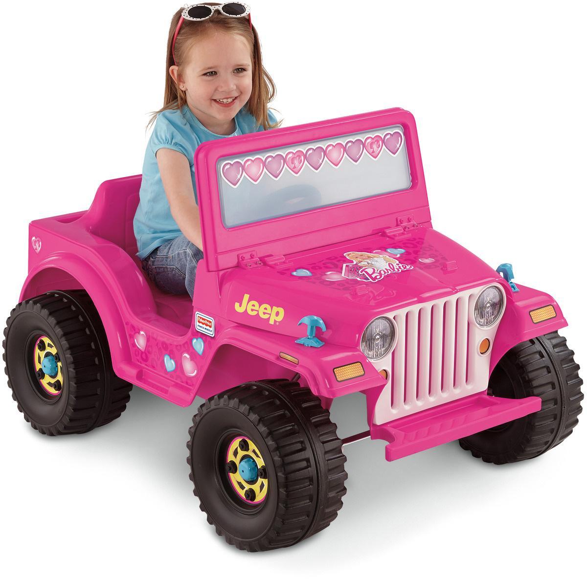Amazon Com Power Wheels Barbie Jeep Wrangler Toys Amp Games