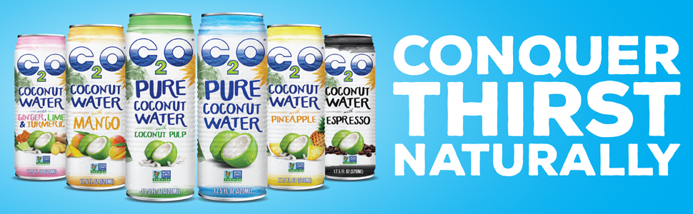 C2O Pure Coconut Water - Conquer Thirst Naturally