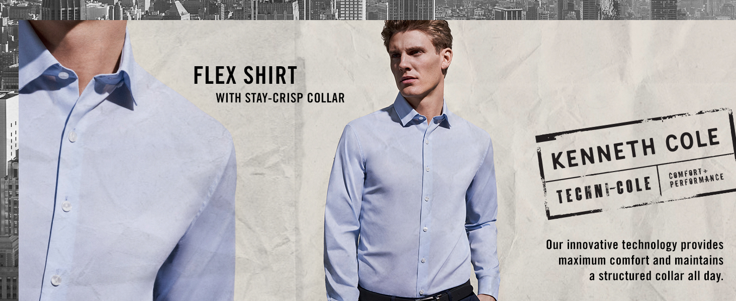 kenneth cole reaction stay crisp collar