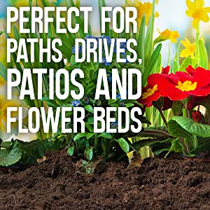 Para caminos, caminos, caminos, patios y parterres.