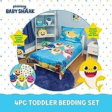 Baby Shark Toddler Bedding