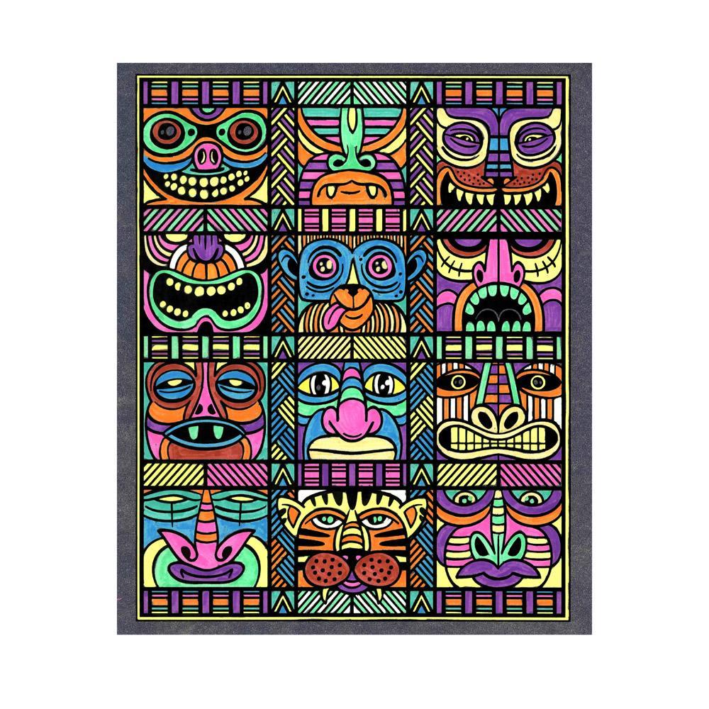 Amazon.com: Crayola Art con borde, marcador de neón y juego ...