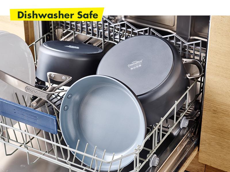GreenPan, Paris Pro, Healthy Ceramic Non-stick, Cookware set, pot, dishwasher safe, easy clean