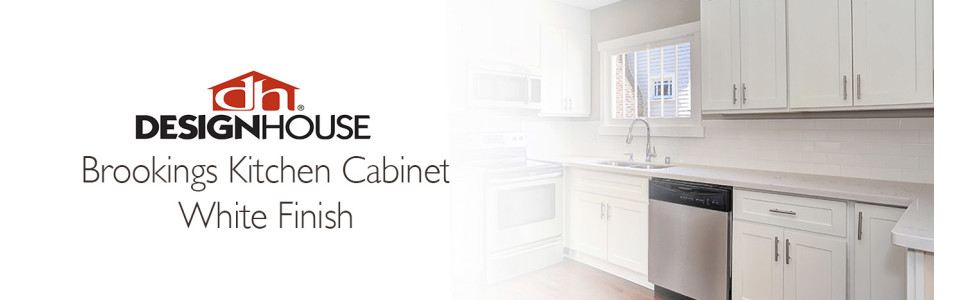 36 in Design House Kitchen Cabinets-Wall White