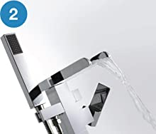 Ove Decors Infinity Faucet Infinity Floor Mounted Tub