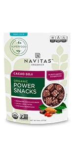 organic power snack, power snacks, organic superfoods, superfood snacks