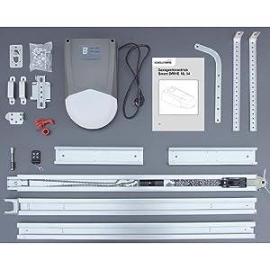 2 Manos a Distancia y desbloqueo de Emergencia Schellenberg 60911 Motor para Puertas seccionales de Garaje Smart Drive 10 m/² con Fuerza 600 N//Incl