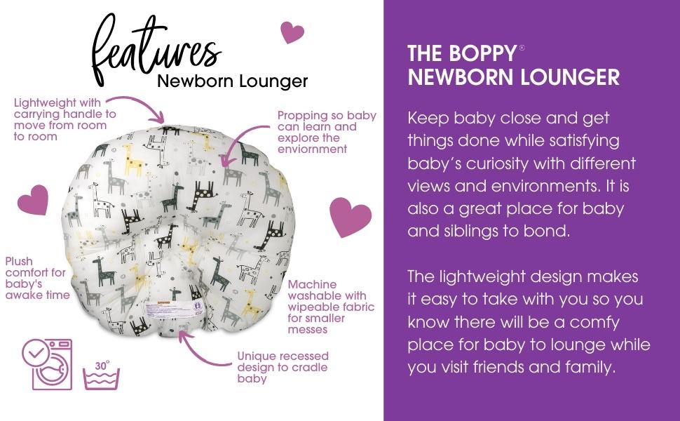 Boppy Newborn Lounger, Newborn Pillow, Newborn Propping, Baby Props, Lightweight baby Lounger