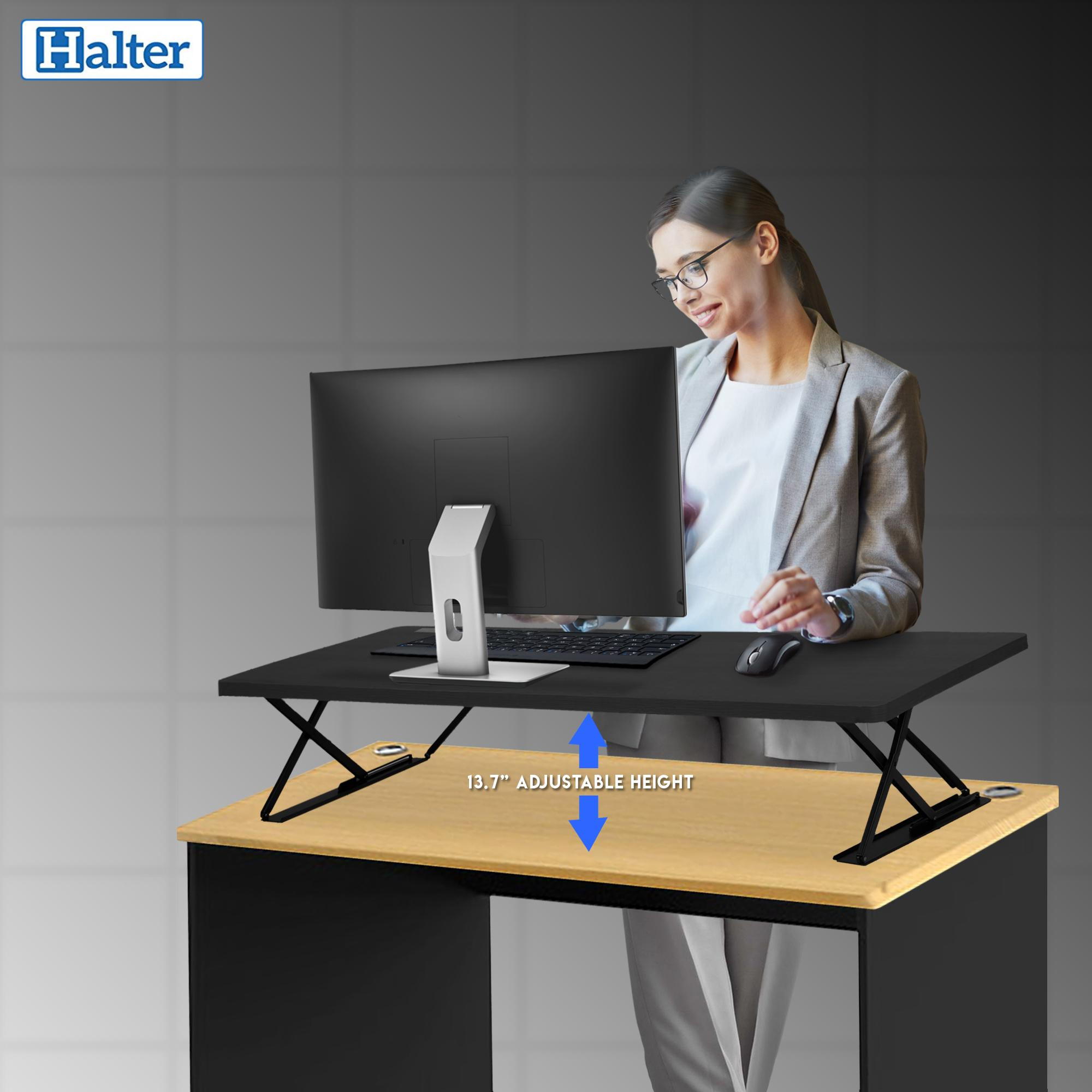Amazon Com Halter Manual Adjustable Height Table Top Sit