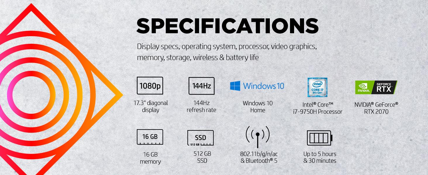 17.3 inch display Windows 10 nvidia geforce rtx 2070 turing Intel Core i7-9750H 9th gen generation
