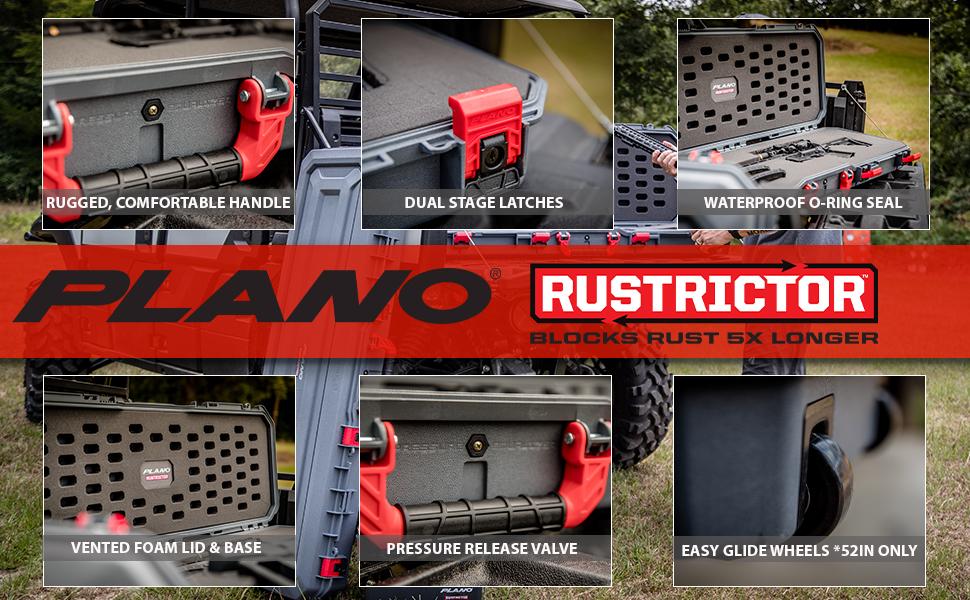 Plano Rustrictor gun case family, waterproof dustproof, cases with wheels, rust proof, pelican skb