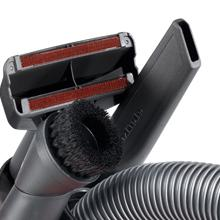 Miele Dusting Brush, Upholstery Tool and Crevice Nozzle are placed conveniently on the vacuum cleaner if needed to clean those hard-to-reach places.