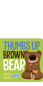 hello genius thumbs up brown calm technique singing cuddle book toddler learning bear milestones