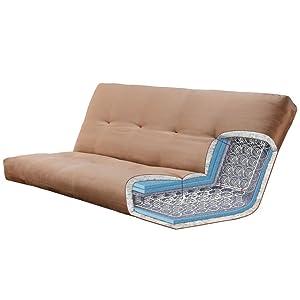 Futon, couch, sofa, storage, drawer, drawers, mattress, adjustable, sleeper, sleep, guest, kids,