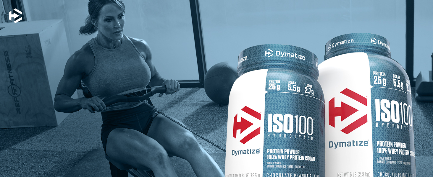 Amazon.com: Dymatize ISO100 Hydrolyzed Protein Powder, 100% Whey Isolate Protein, 25g of Protein, 5.5g BCAAs, Gluten Free, Fast Absorbing, Easy Digesting, Natural Vanilla, 1.6 Pound: Health & Personal Care