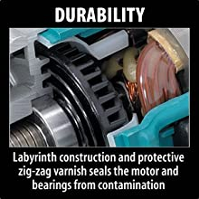 durability labyrinth construction protective zig zag varnish seals motor bearings contamination