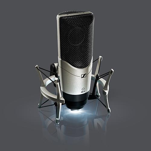 sennheiser mk4 side address microphone with 24 carat gold plated diaphragm black pearl large. Black Bedroom Furniture Sets. Home Design Ideas