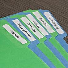 DYMO Labels on File Folders