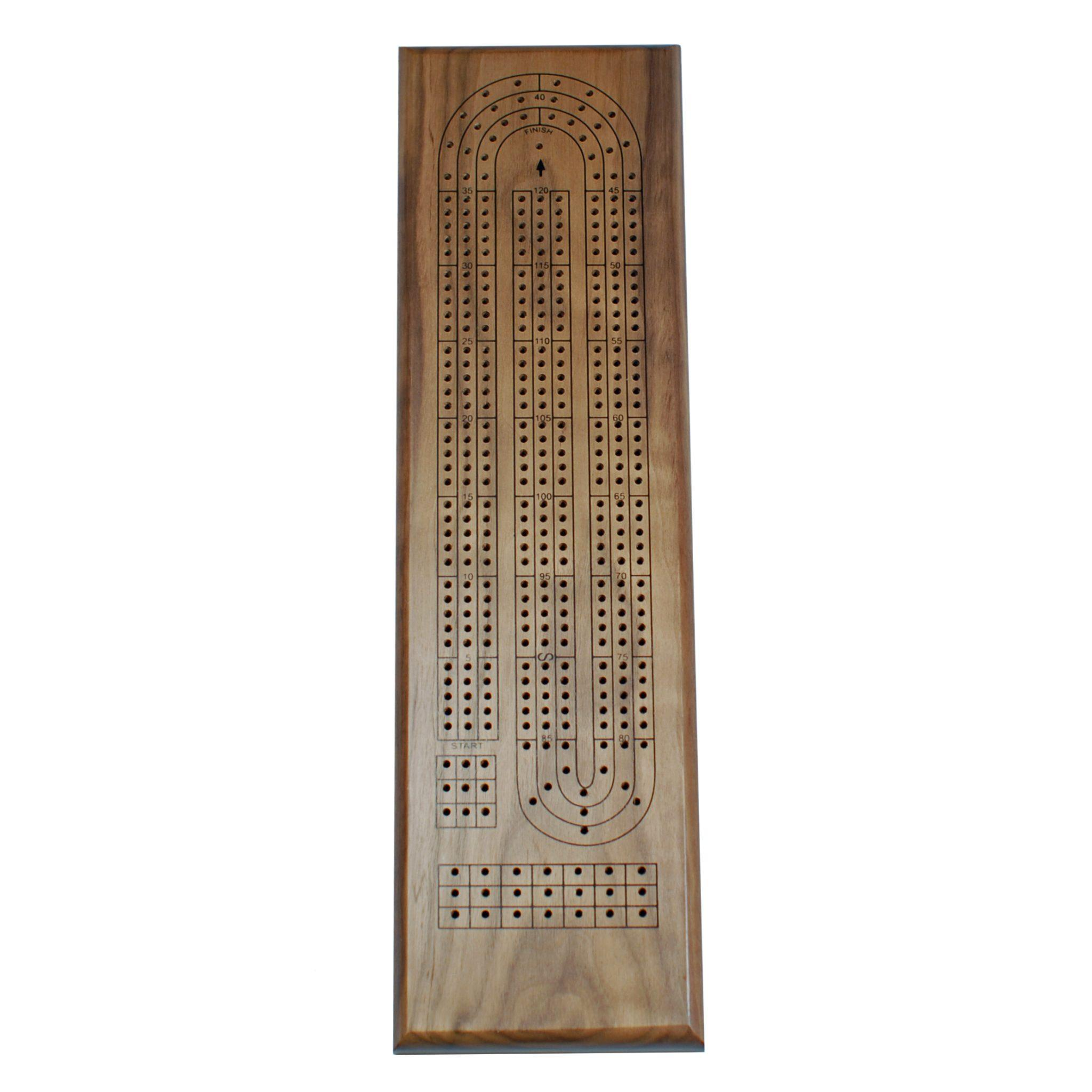 Amazon Classic Cribbage Set Solid Walnut Wood Continuous 3