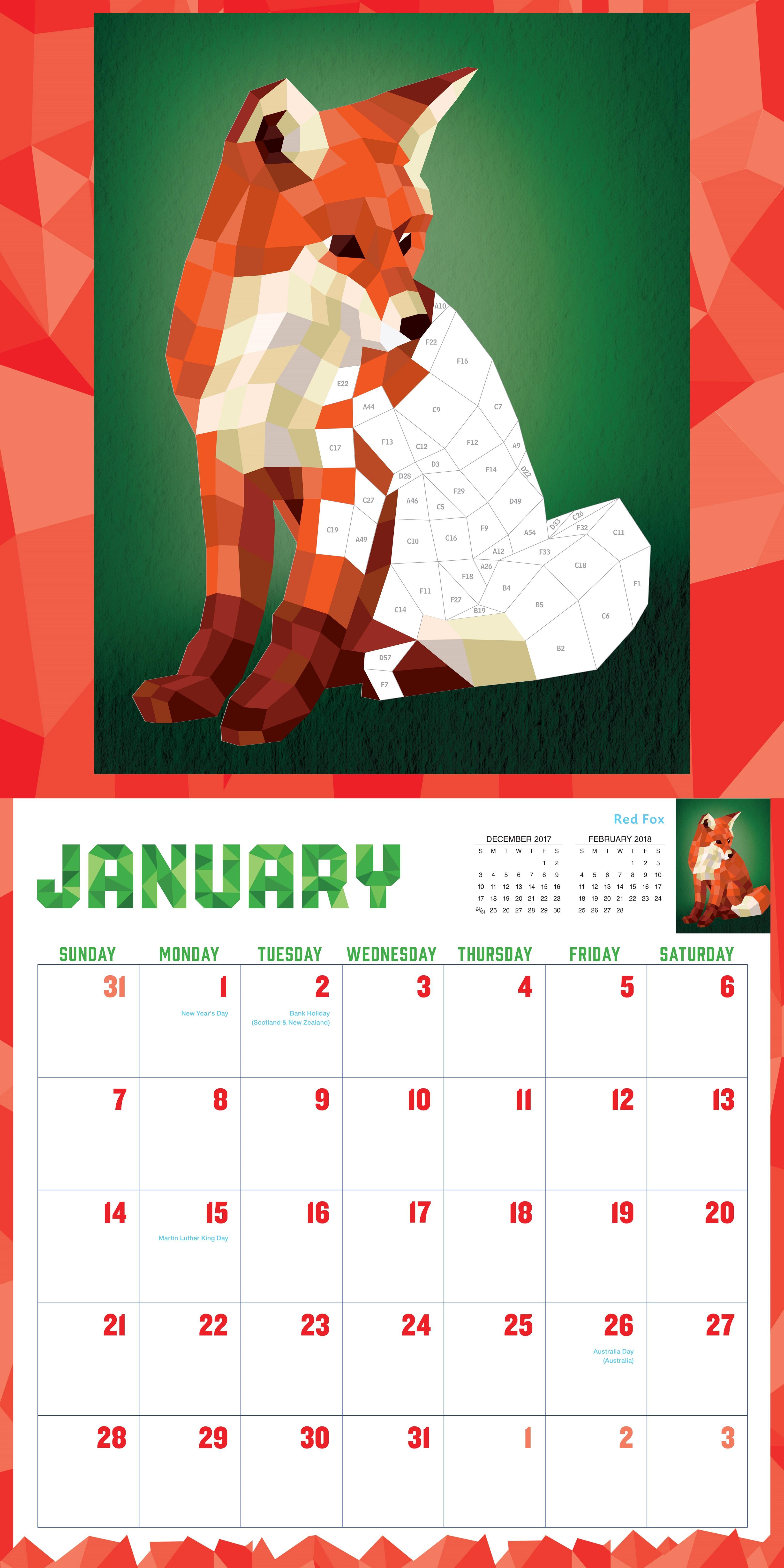 Amazon.com: Paint by Sticker Wall Calendar 2018 (9781523501786 ...