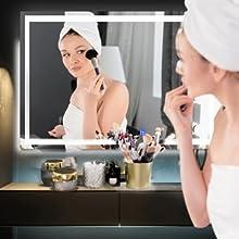 Rectangle LED Makeup Mirror