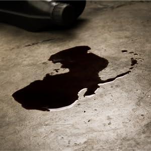 oil stain, oil leak, oil drip, dripping oil, leaking oil, garage floor, floor protection, oil leak