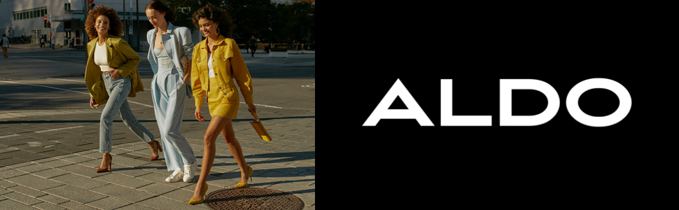 ALDO on model look with black pointed toe ankle boots