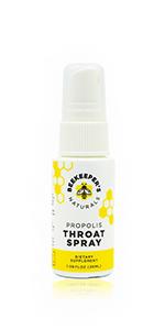 bee propolis throat spray natural immune support cold flu relief paleo keto non-gmo no sugar organic