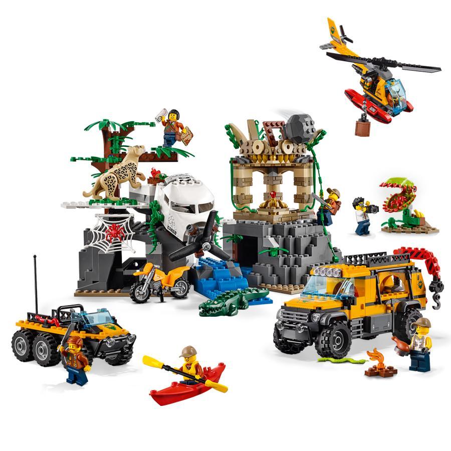 LEGO City Jungle Explorers Jungle Exploration Site 60161 ...