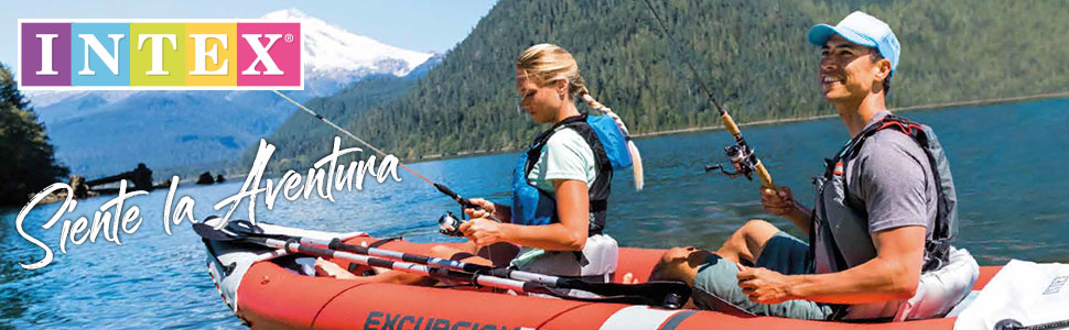 Intex 68309NP - Kayak hinchable K2 Excursion Pro con 2 remos e ...