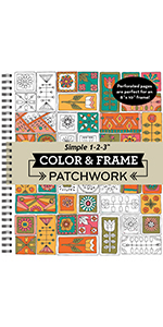 patchwork pattern coloring book for adults grown up senior teens